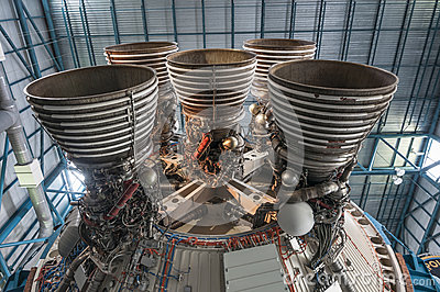 Saturn V Engine Editorial Image