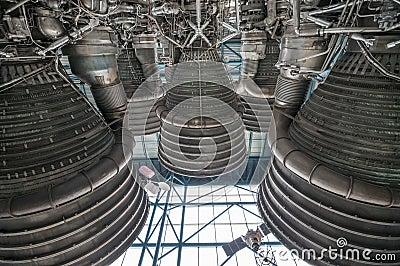 Saturn-V-motor Redactionele Afbeelding