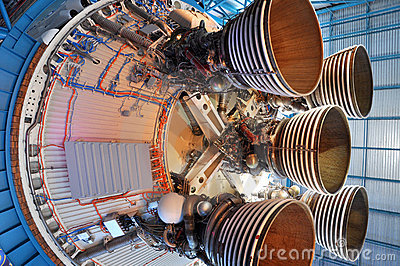 Saturn V Rocket Engines, Cape Canaveral, Florida