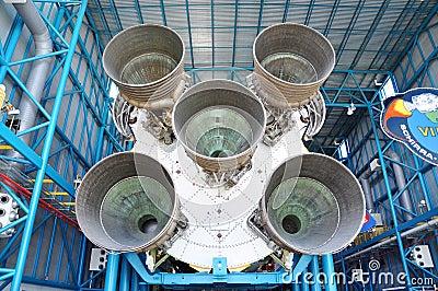 Saturn V Rocket Engines Editorial Photo