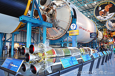 Saturn V Rocket stage II, Cape Canaveral, Florida Editorial Photography