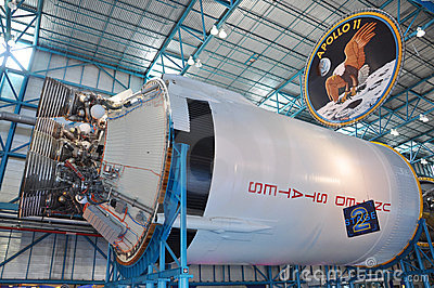 Saturn V Rocket stage II, Cape Canaveral, Florida Editorial Image