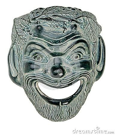 SATYR greco della mascherina del teatro