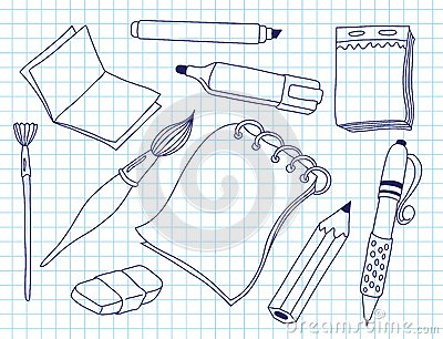 Satz Bürowerkzeuge