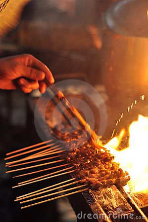 Free Sauce On Satay Royalty Free Stock Images - 7692929