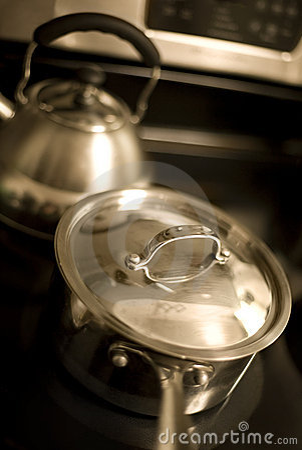 Sauce Pan  and Tea Kettle