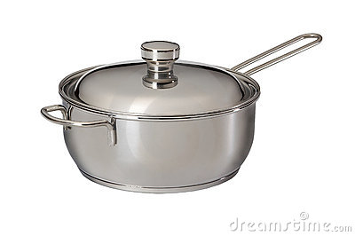 Saucepan from stainless steel