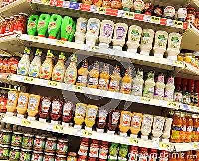 Sauces Editorial Stock Photo