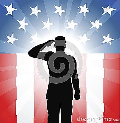 Saudação patriótica do soldado