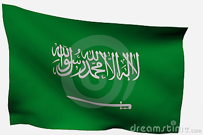 Saudi Arabia 3D flag