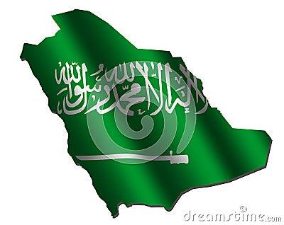 Saudi Arabia map flag