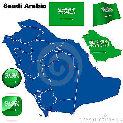 Free Saudi Arabia Set. Royalty Free Stock Photo - 13708585