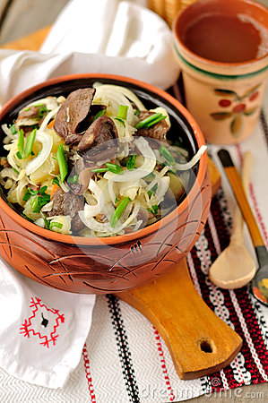 Sauerkraut, Potato and Mushroom Salad