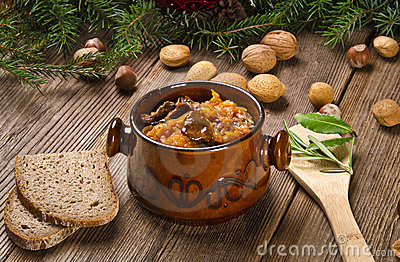 Sauerkraut with smoked meat