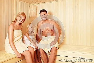 In the sauna