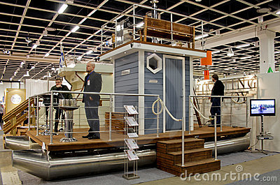 Sauna-Boat at Boat Show Editorial Image