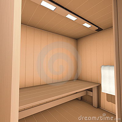 Sauna inside box