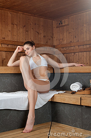 Sauna at spa