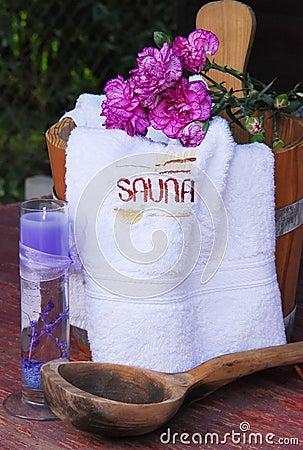 Sauna still-life