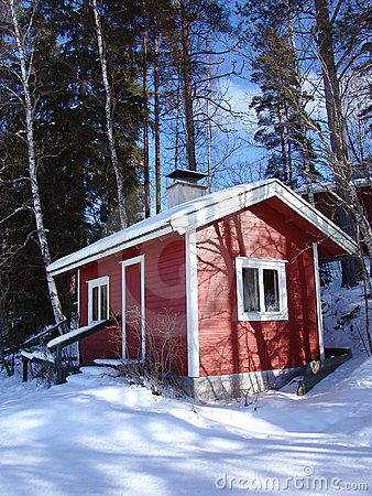 Sauna in the winter