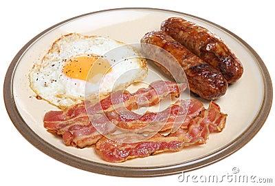 sausage bacon amp egg breakfast stock photography image