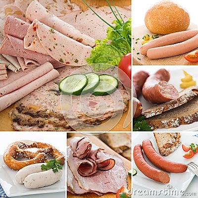 Sausage collage