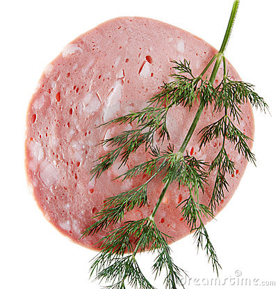 Sausage with dill.