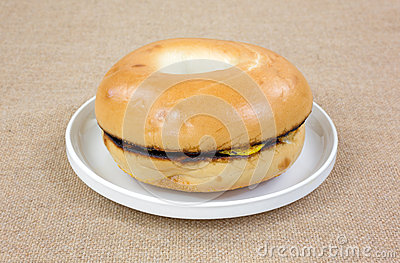 Sausage Egg Bagel Small Plate