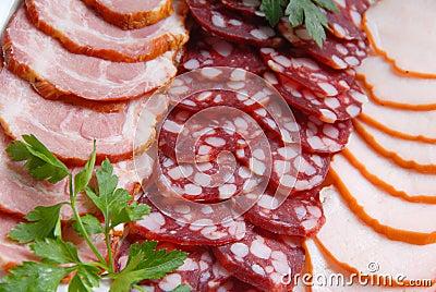 Sausage, meat, verdure