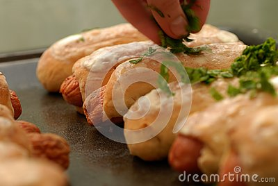 Sausage in pastry
