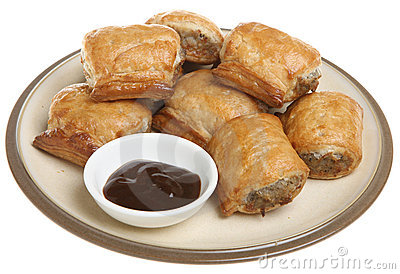 Sausage Rolls & Brown Sauce