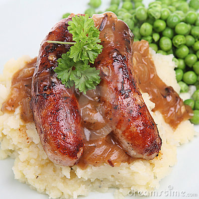 Free Sausages And Mash Royalty Free Stock Photography - 5465567