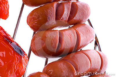 Sausages on BBQ