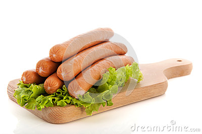 Sausages for hot dogs