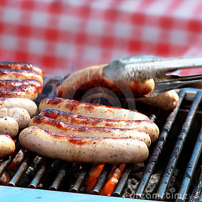 Free Sausages On Grill Royalty Free Stock Photo - 21536945