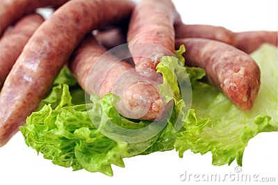 Sausages and vegetable