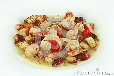 Saute scallops