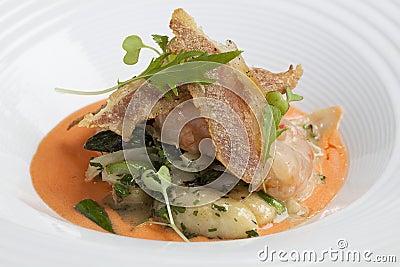 Sautéed Gnocchi with lobster sauce