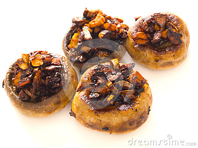 Sauteed button mushrooms