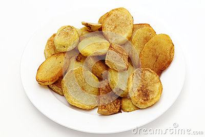 Sauteed potatoes high angle