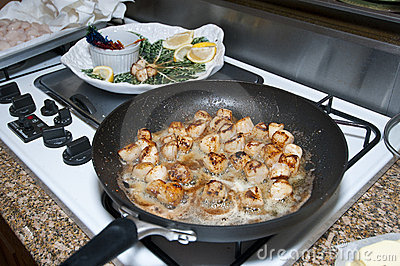 Sauteing Nantucket Bay Scallops
