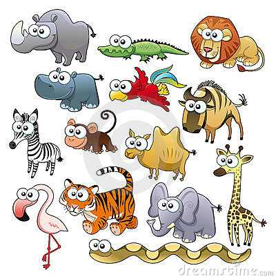 Free Savannah Animal Family. Royalty Free Stock Images - 16014069