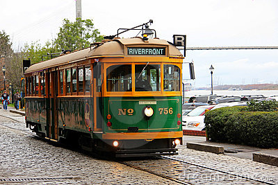 Savannah Trolley Car Editorial Photo