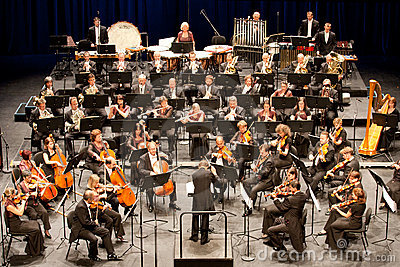Savaria Symphonic Orchestra performs Editorial Image