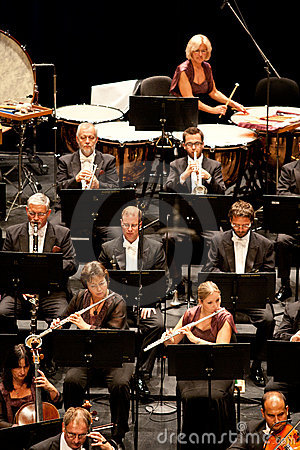 Savaria Symphonic Orchestra performs Editorial Stock Image