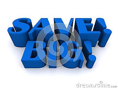 Save big sign
