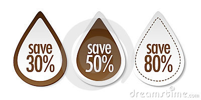 Save on brown stickers