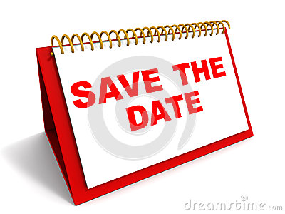 Words save the date on a calender in red, reminder and date saving ...: www.dreamstime.com/stock-images-save-date-image26690254