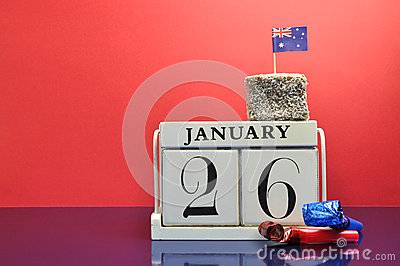 Save the Date calendar for Australia Day, January 26.