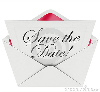 Save The Date Invitation Party Meeting Event Envelope Schedule Stock ...